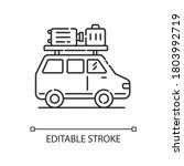 road trip pixel perfect linear...   Shutterstock .eps vector #1803992719
