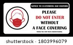 wear mask sign. face covering... | Shutterstock .eps vector #1803996079