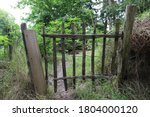 A Wooden Gate Made Of Old Wood...