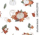 autumn seamless pattern  fall... | Shutterstock .eps vector #1804012993