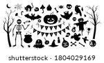 big set of vector halloween... | Shutterstock .eps vector #1804029169