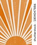 orange sun print boho... | Shutterstock .eps vector #1804047886