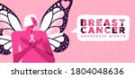 breast cancer awareness month... | Shutterstock .eps vector #1804048636