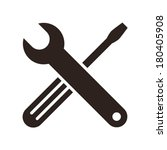 wrench and screwdriver icon... | Shutterstock .eps vector #180405908