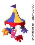 circus themed child's mobile  | Shutterstock . vector #180406700
