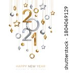 christmas and new year banner... | Shutterstock .eps vector #1804069129