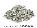 pile of us money | Shutterstock . vector #180408434