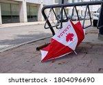 Broken Discarded Umbrella On...