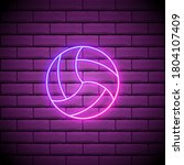 volleyball ball pink glowing...