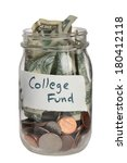 College Fund Jar On White...