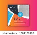 big sale web banner design | Shutterstock .eps vector #1804133920