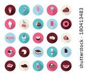 set of flat design dessert... | Shutterstock .eps vector #180413483