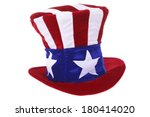 Uncle Sam Hat Isolated Over...