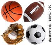 four sports balls | Shutterstock . vector #180414050