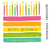 happy birthday and party... | Shutterstock .eps vector #180414158