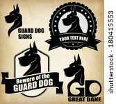 dog template  suitable for... | Shutterstock .eps vector #180415553