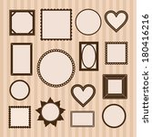 set of empty frames  different... | Shutterstock .eps vector #180416216