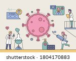 scientists are developing a... | Shutterstock .eps vector #1804170883