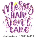 messy hair dont care  ... | Shutterstock .eps vector #1804194499