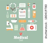vector   medical icons | Shutterstock .eps vector #180419780