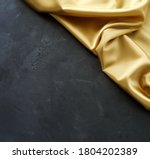 Gold Silk Fabric Texture And...