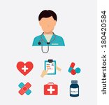 medical supplies design over... | Shutterstock .eps vector #180420584