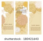 banners set with floral beige... | Shutterstock .eps vector #180421643