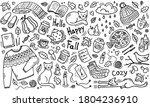 hand draw autumn background in... | Shutterstock . vector #1804236910
