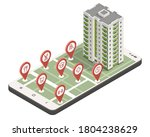 a real estate agent offers a... | Shutterstock .eps vector #1804238629