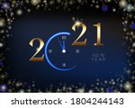 happy new year 2021. creative... | Shutterstock .eps vector #1804244143