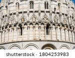 Closeup Of The Pisa Baptistery...