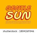 vector cute emblem gentle sun....   Shutterstock .eps vector #1804269346