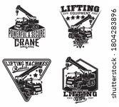 lifting work emblems designs ... | Shutterstock .eps vector #1804283896