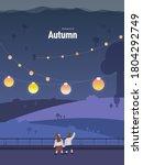 autumn emotion illustration  ... | Shutterstock .eps vector #1804292749