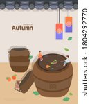 autumn emotion illustration  ... | Shutterstock .eps vector #1804292770