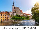 st vitus church in the middle... | Shutterstock . vector #1804299343