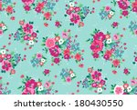 Stock vector seamless vintage tropical flower pattern vector 180430550
