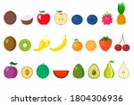 eps 10 vector. a set of fruits... | Shutterstock .eps vector #1804306936
