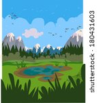 marshy cartoon landscape. all... | Shutterstock .eps vector #180431603