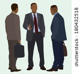 black men talking | Shutterstock .eps vector #180432518