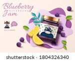 3d illustration of blueberry... | Shutterstock .eps vector #1804326340