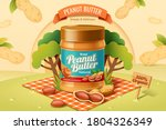 peanut butter spread product on ... | Shutterstock .eps vector #1804326349