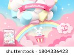 marshmallow ad in 3d... | Shutterstock .eps vector #1804336423