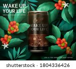 sugar free black coffee ad... | Shutterstock .eps vector #1804336426