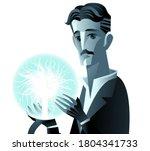 inventor genius with lighting...   Shutterstock .eps vector #1804341733