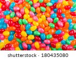 Bright  Colorful Jellybeans In...