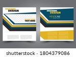 flyer template. square brochure ... | Shutterstock .eps vector #1804379086