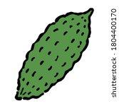 illustration of bitter gourd ...   Shutterstock .eps vector #1804400170