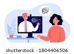 sad woman counseling with... | Shutterstock .eps vector #1804406506