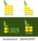 corn logo design. maize symbol... | Shutterstock .eps vector #1804420999